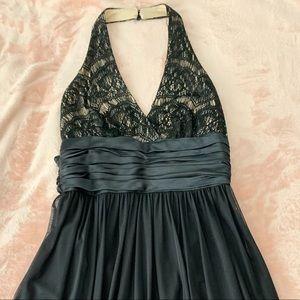 Maggy London halter, knee length dress, size 4